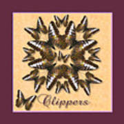 Clipper Butterfly Pin Wheel Poster
