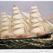 Clipper Ship, 1875 Poster