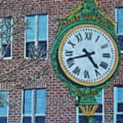 Clock At Port Warwick Poster