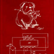 Clock For Keeping Animal Time Patent Drawing 1b Poster