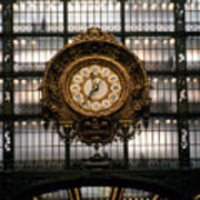 Clock Musee D'orsay Poster