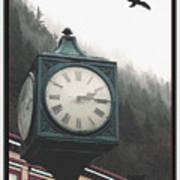 Clock Raven Poster