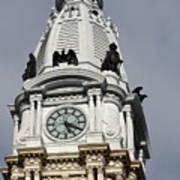 Clock Tower City Hall - Philadelphia Poster