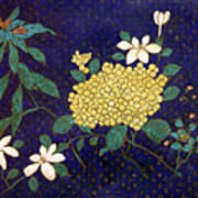 Cloisonee' Flower Poster
