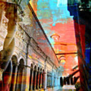 Cloister In Rome Poster