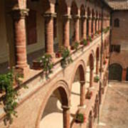 Cloistered Courtyard Poster
