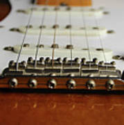 Close Up Electric Guitar Poster