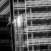 Close Up Of Black And White Glass Building Poster