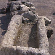 Close Up Of Excavations In The Ancient Poster