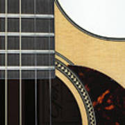 Close-up Of Steel-string Guitar Poster