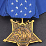 Close-up Of The Medal Of Honor Award Poster