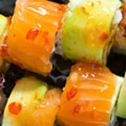 Close Up Sushi In Plate Poster by Deyan Georgiev