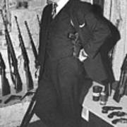 Close Up Viet Nam Vet John Dane With His Weapons Collection American Fork Utah 1975 Poster