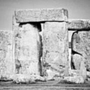Close Up View Of Circle Of Sarsen Stones With Lintel Stones Stonehenge Wiltshire England Uk Poster