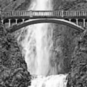 Close Up View Of Multnomah Falls Poster
