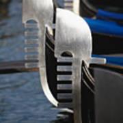 Close Up Views Of Gondola Bows Poster