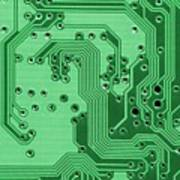 Closeup Of A Motherboard Poster