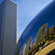 Cloud Gate And Aon Center Poster