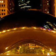 Cloud Gate At Night Poster