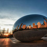 Cloud Gate At Sunrise Poster