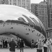 Cloud Gate Chicago Bw 2 Poster