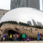 Cloud Gate Chicago Color 4 Poster