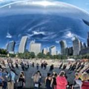 Cloud Gate Reflectioms Poster
