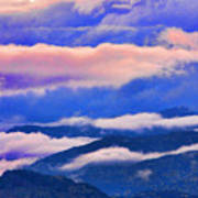 Cloud Layers At Sunset Poster