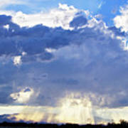 Cloud Storm On The Horizon Poster