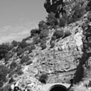 Cloudcroft Tunnel  Black And White Poster