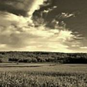 Clouds And Cornfields Poster