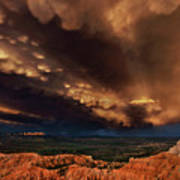 Clouds And Thunderstorm Bryce Canyon National Park  Poster