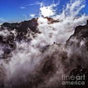 Clouds In The Caldera De Taburiente Poster