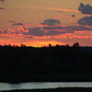 Clouds On Fire - Thousand Island Sunset -  Poster