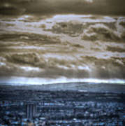Clouds Over Bristol Hdr Split Toning Poster