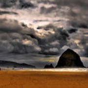 Clouds Over Cannon Beach Poster