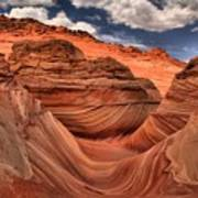 Clouds Over Coyote Buttes North Poster
