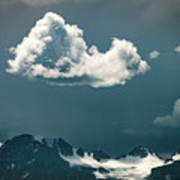 Clouds Over Glacier, Banff Np Poster