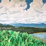 Clouds Over Kauai Poster