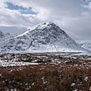 Clouds Over Mountains, Glencoe, Scotland Poster
