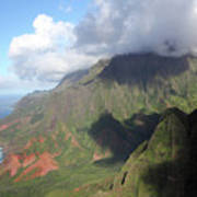 Clouds Over Napali II Poster