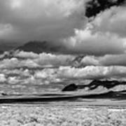 clouds over Nevada desert Poster