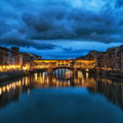 Clouds Over Ponte Vecchio Poster