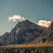 Clouds Over Red Rock Canyon Poster