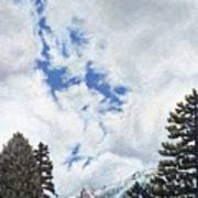 Clouds Over Tahquitz Poster