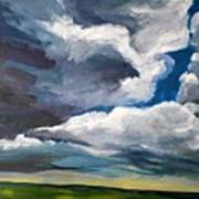 Clouds Over The Prairie Poster