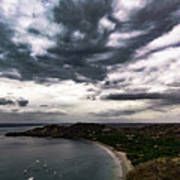 Cloudy Ocean View Poster