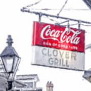 Clover Grill Coke Sign Poster