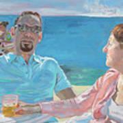 Clovis And Bethany At Tobacco Bay, Bermuda Poster