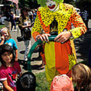 Clown Entertaining Kids Poster